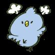 プンプン怒っている青い鳥