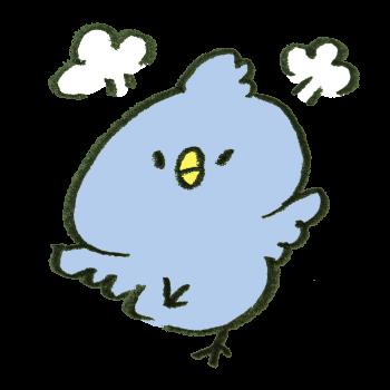 プンプン怒っている青い鳥のイラスト