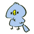 何も考えずにぼーっとする青い鳥