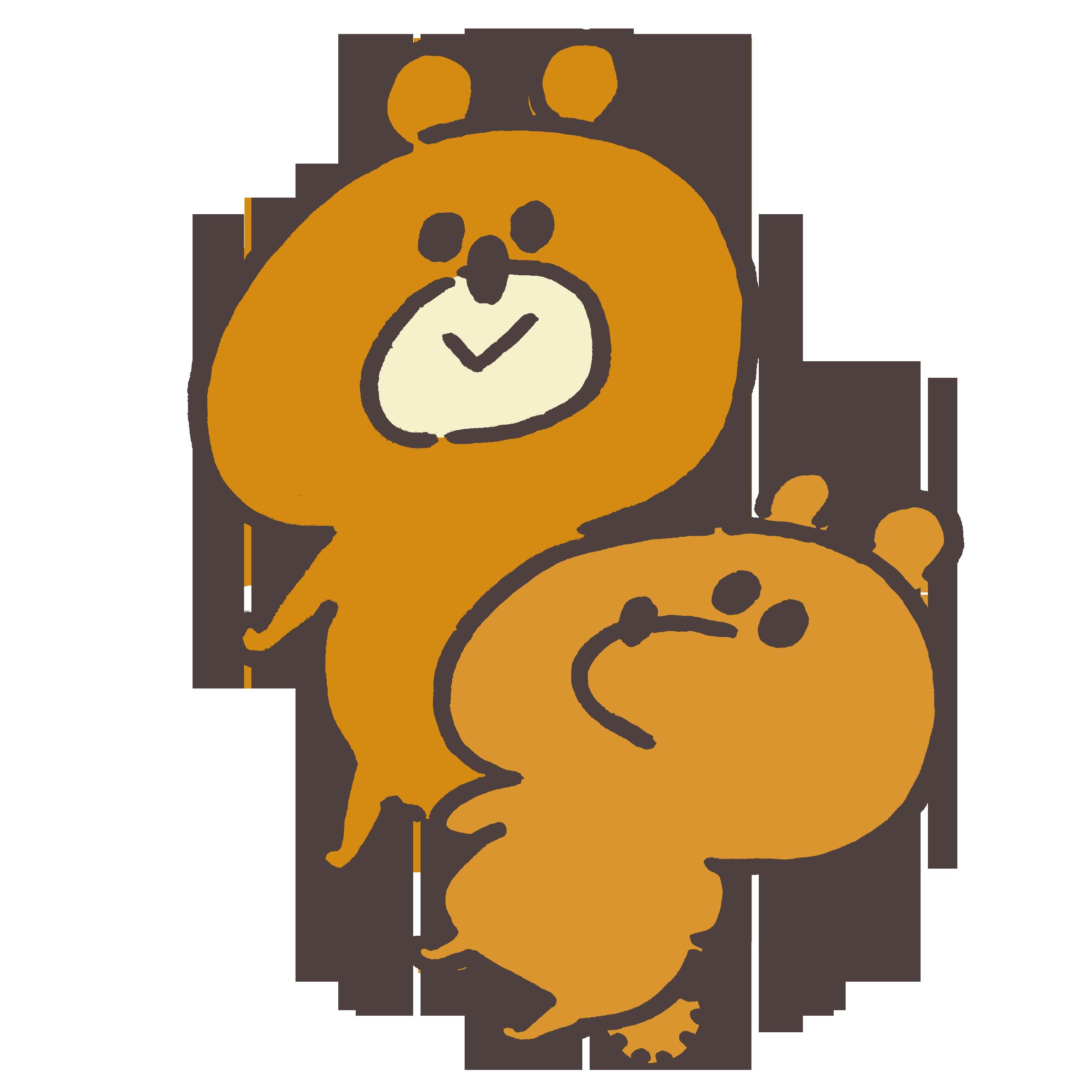 熊と子熊のイラスト