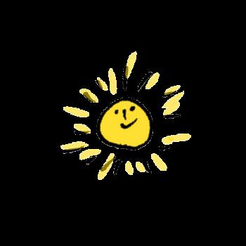 ごきげんな太陽のイラスト