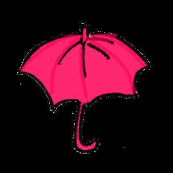 ピンク色の傘のイラスト