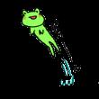 飛び跳ねるカエル