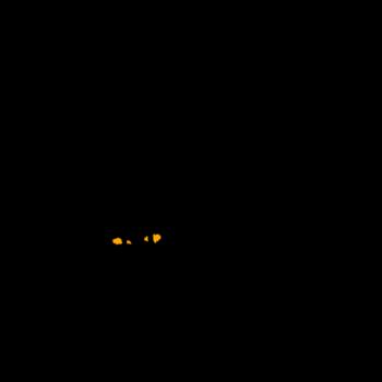 しっぽを立てて威嚇する黒猫のイラスト