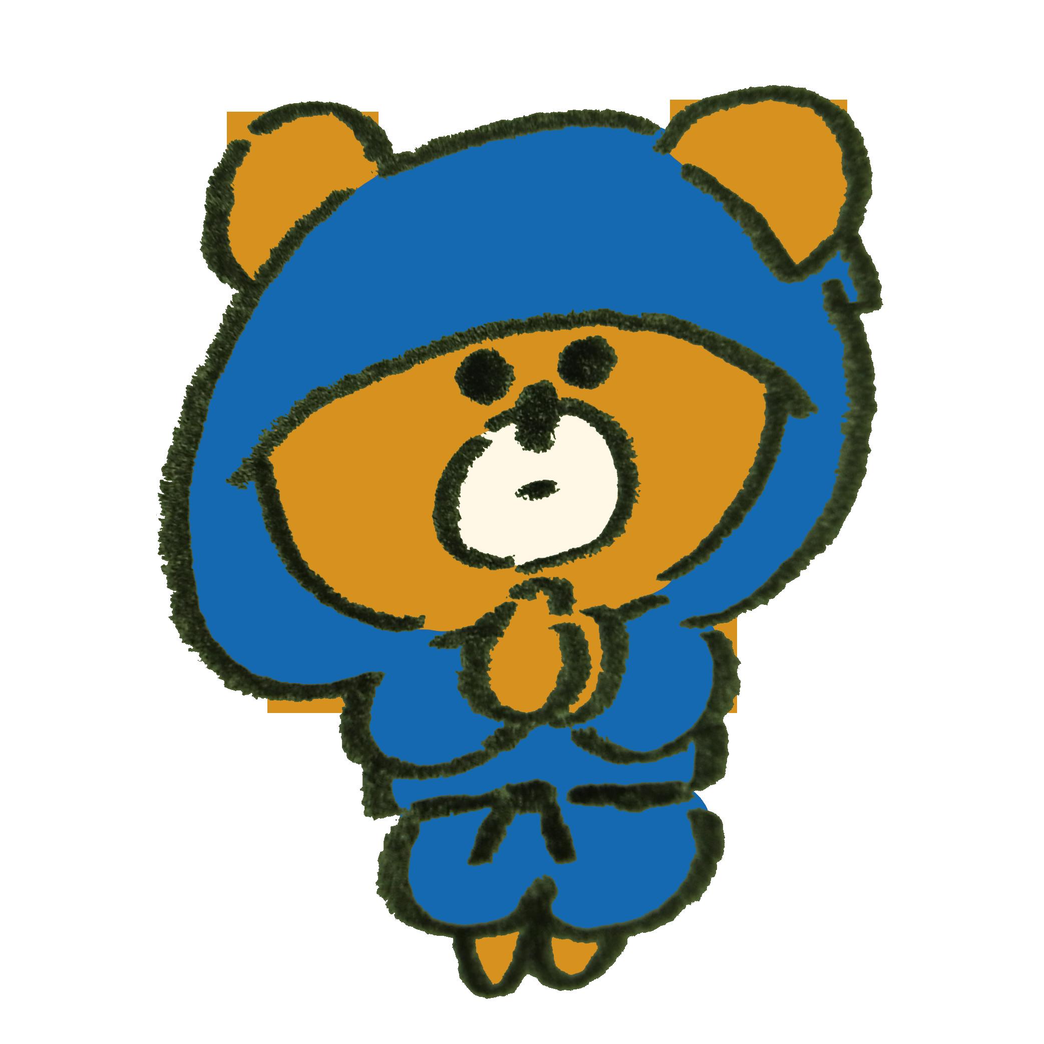 忍術を使う忍者の熊