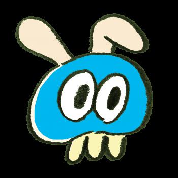 うさぎの耳がついたクラゲのイラスト