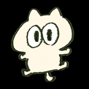 目がくりっとした猫のイラスト