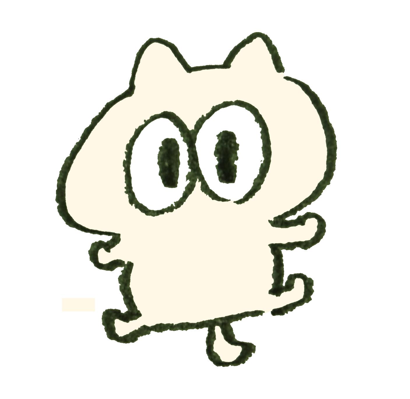 目がくりくりした猫