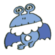 カエル顔でこうもり羽のモンスター