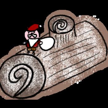 きりかぶみたいな形のケーキブッシュドノエル