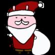 サンタさんのかっこうをしたうさぎ