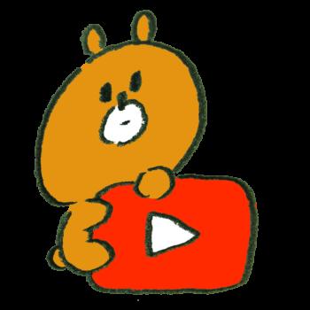 Youtube風アイコンにのぼる熊