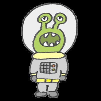 緑色の宇宙人のイラスト