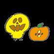 かぼちゃと顔が入れ替わったひよこ