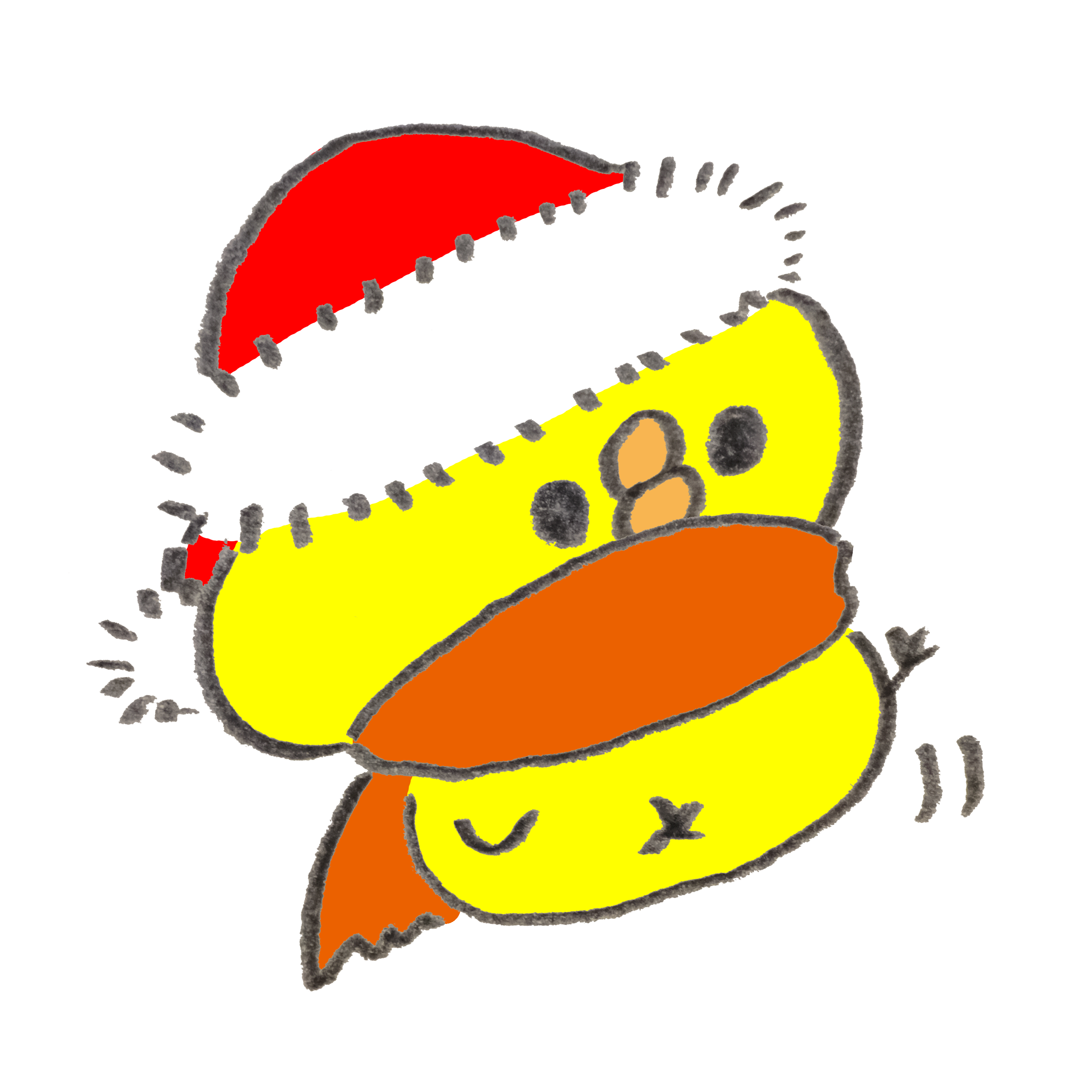 クリスマスを待つひよこ