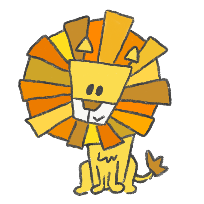抽象的なライオン ゆるくてかわいい無料イラスト素材屋