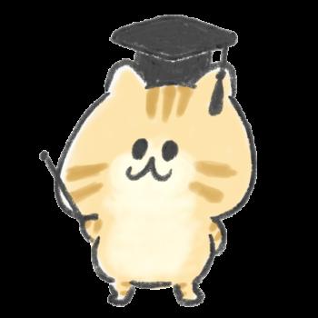 解説をする茶トラの猫