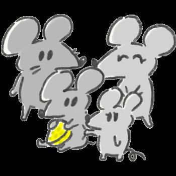 ネズミの家族