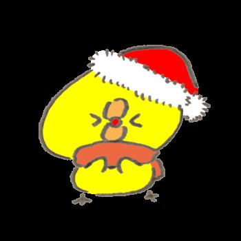 クリスマスに失敗しちゃったひよこ