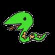 移動する蛇