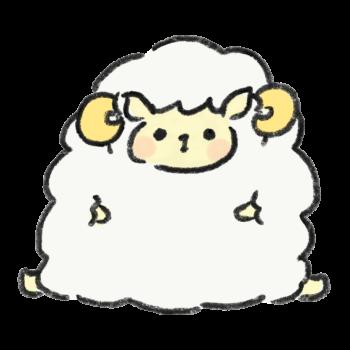 羊 のイラスト素材一覧 ゆるくてかわいい無料イラスト素材屋 ぴよたそ