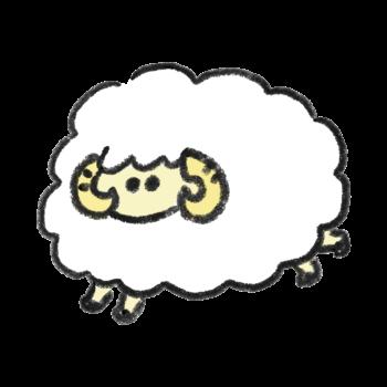 四足歩行の羊