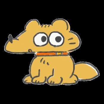 昭和の4コマ漫画に出てきそうな犬
