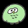 緑色のフクロウ