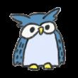 青色のフクロウ
