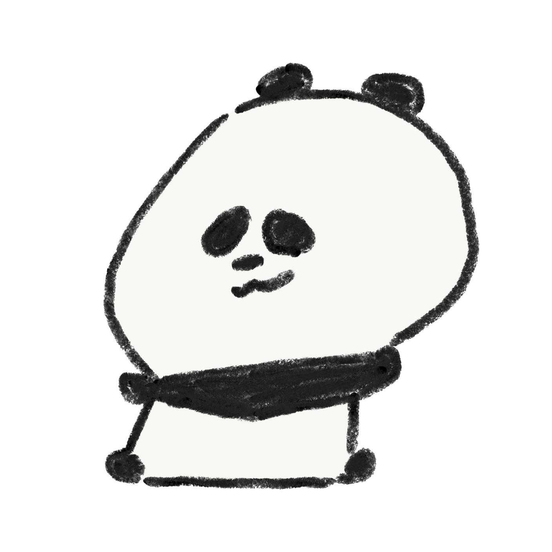 ニヒルに笑うパンダ