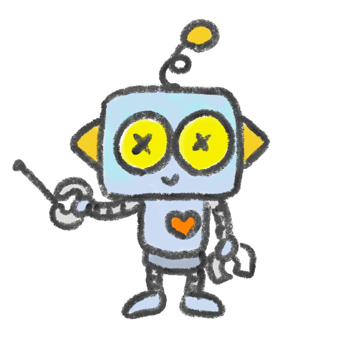解説するロボット