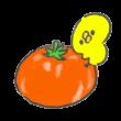 トマトにつかまったひよこ