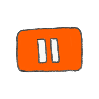 Youtube風の一時停止ボタン