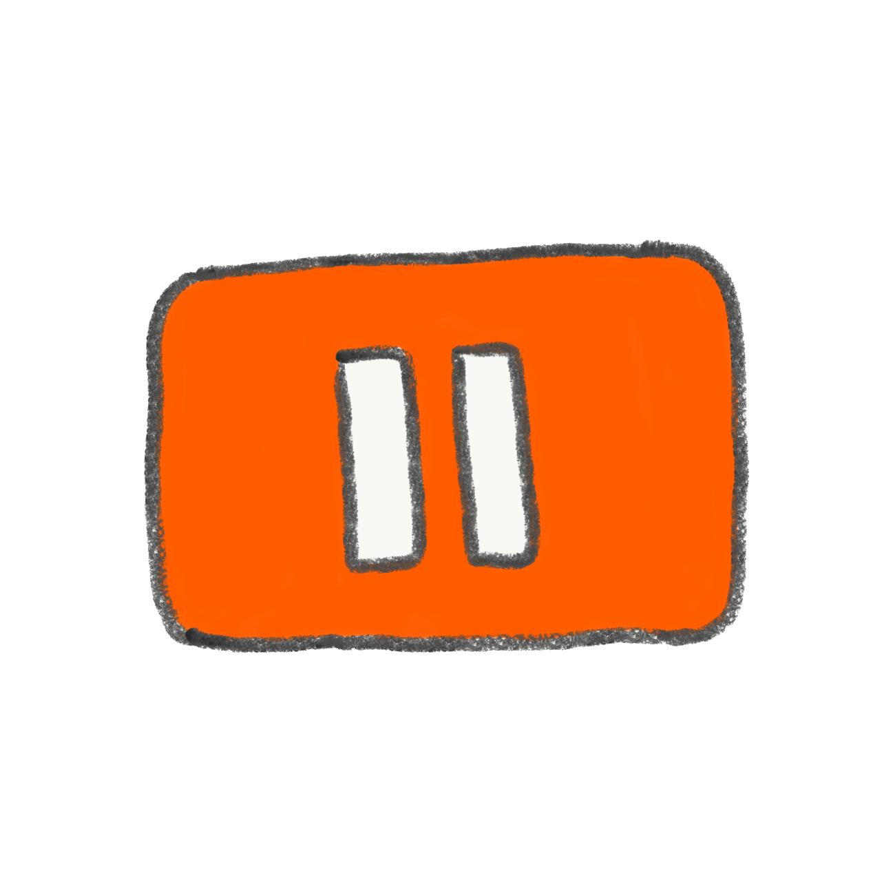 youtubeの一時停止ボタン