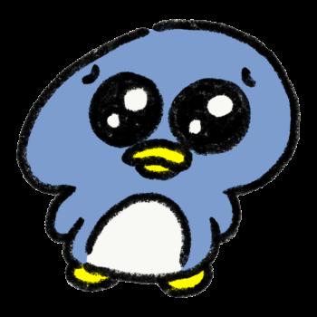 ぴえん顔のペンギン