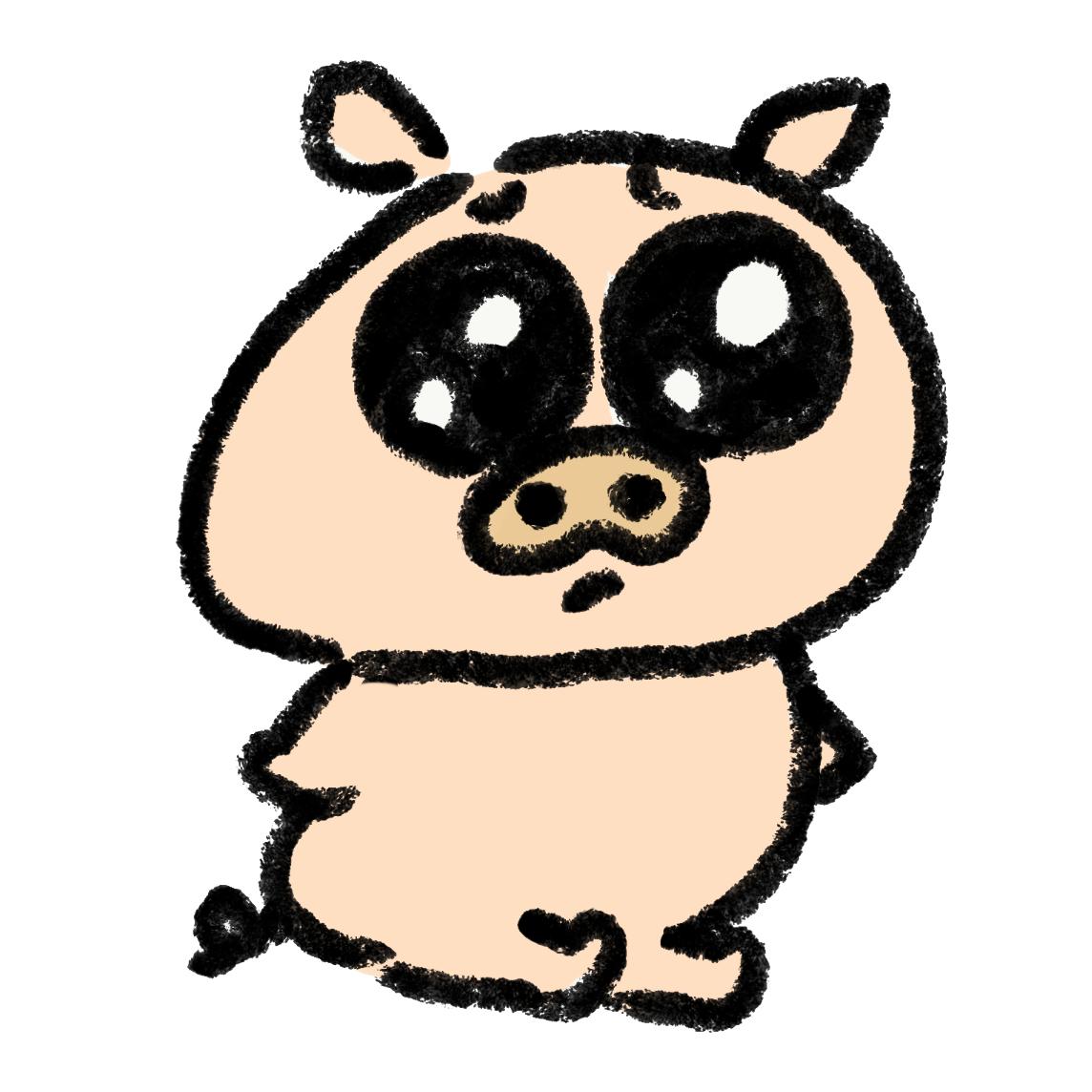 ぴえん顔の豚