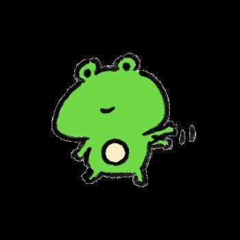 手をふるカエル