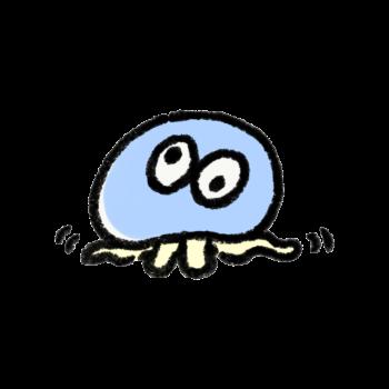 混乱したクラゲ