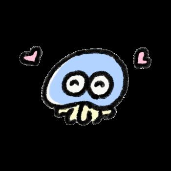愛情を感じているクラゲ