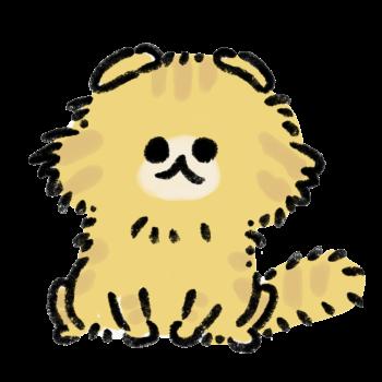 おすわりをしている茶色い猫