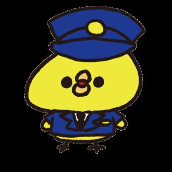 制服を着た警察官のひよこ