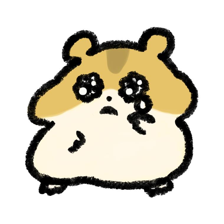 悲しい表情のジャンガリアンハムスター