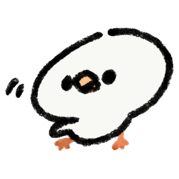 片方の羽を広げる白文鳥