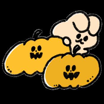 おばけかぼちゃとうさぎ