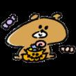 食べきれない量のお菓子をハロウィンにもらった熊