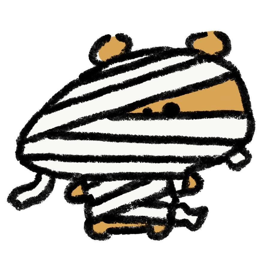 熊のミイラ男