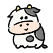 ニコニコ笑っている牛