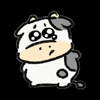ぴえん顔の牛