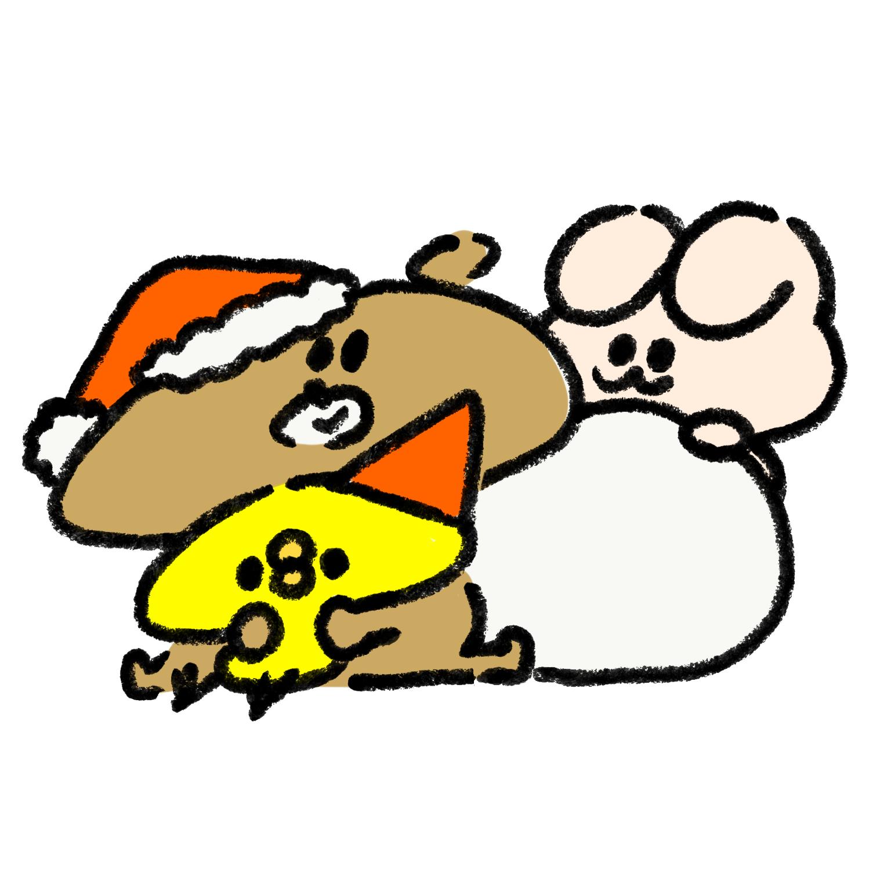 ひよこと熊とうさぎでクリスマスパーティー