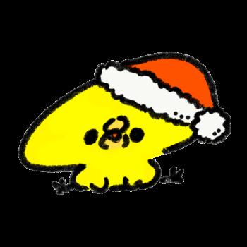 12月中はずっとクリスマスのこと考えてわくわくしているひよこ